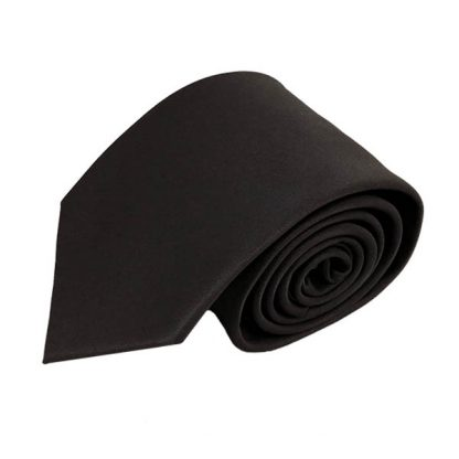 Charcoal Solid Men's Tie w/ Pocket Square 4806