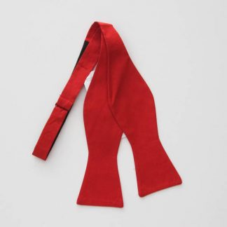 Red Solid Self Tie Bow Tie 8061-0