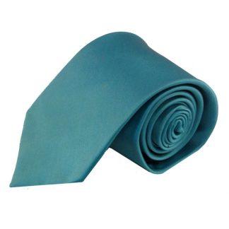 Turquoise Solid Silk Men's Tie 4440