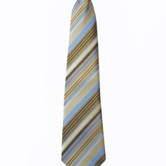 "14"" Boy's Clip-On Taupe, Light Blue Stripe Tie 3819-0"