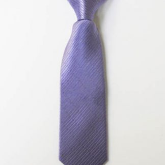 """8"""" Boy's Clip-On Lavender Solid Tone on Tone Rectangles Tie 4627-0"""