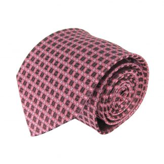 Pink, Charcoal Square Men's Tie 10109-0