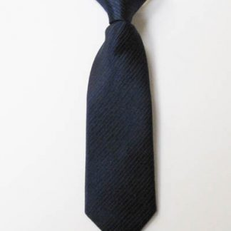 """8"""" Boy's Clip-On Navy Solid Tone on Tone Rectangles Tie 7476-0"""