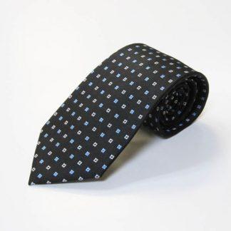 Black, Blue Small Square Men's Tie 4076-0