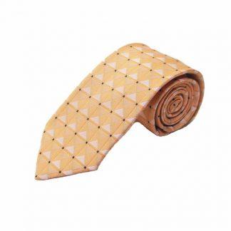 Coral Diamonds, Black Squares Men's Tie 6344-0