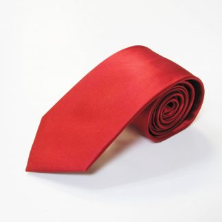 "63"" XL Red Solid Silk Men's Tie 4428-0"
