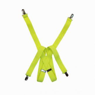 Fluorescent Yellow Solid Suspenders 11064-0