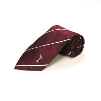 Moroni Maroon, White Plaid Silk Men's Tie 10000-0