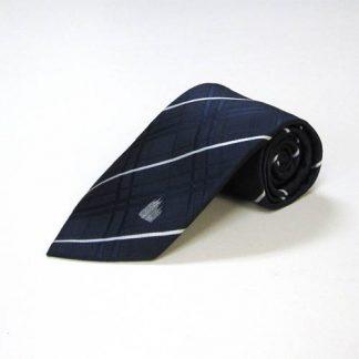 Salt Lake Temple Navy, White Plaid Men's Tie 8927-0