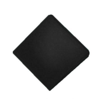 Black Solid Pocket Square
