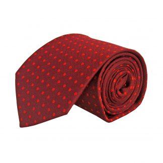 Burgundy w/Red Dot Men's Tie 5885-0