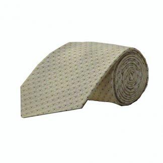 Cream, Taupe Dot Pattern Men's Tie 7873-0