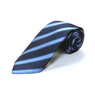 Navy, Blue Stripe Men's Tie 8560-0