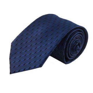 Blue & Black Pattern Men's Tie 5527