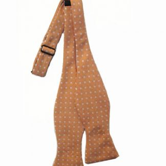 Orange w/ White Dots Men's Self Tie Bow Tie 10985-0