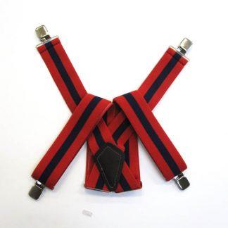 Red, Navy Stripe Suspenders 2053-0