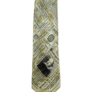 William Shakespeare Tan, Black Silk Men's Tie 5045-0