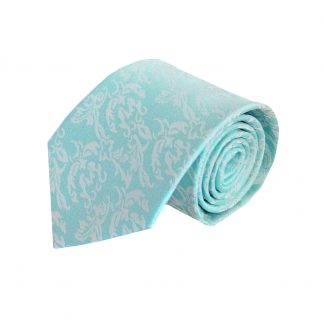 Aqua Tone on Tone Floral Men's Tie 9965-0