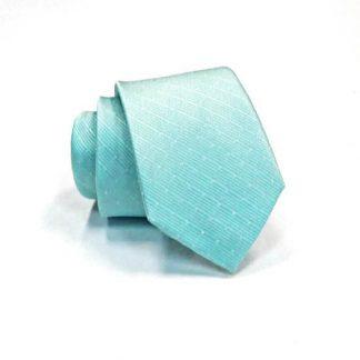 Aqua Tone on Tone Dot Stripe Skinny Men's Tie 10619-0
