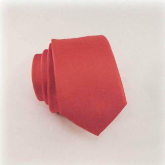 Cherry Red Solid Skinny Men's Tie 10950-0
