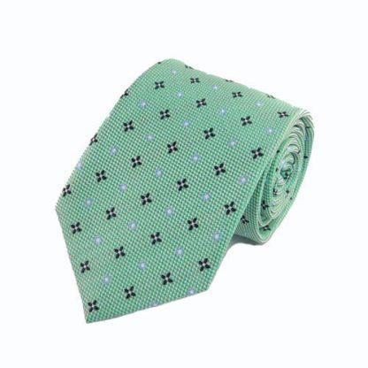 Aqua, Blue, Black Small Medallion Men's Tie 1709-0