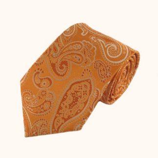 Orange Paisley Tone on Tone Men's Tie 4170-0