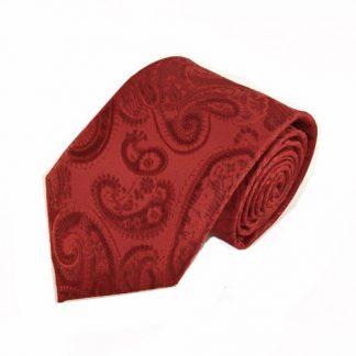 Red Paisley Tone on Tone Men's Tie 5745-0