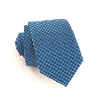 Teal & Black Small Diamonds Skinny Men's Tie 1094-0