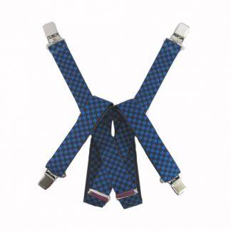 Blue, Black Checker Suspenders 2735-0