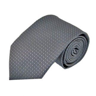 Charcoal Small Diamonds Tone on Tone Men's Tie 3053-0