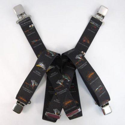Black Fly Fishing Suspenders 334-0