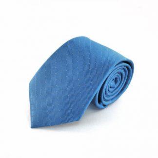 Electric Blue Tone on Tone w/Silver Dot Men's Tie 3749-0