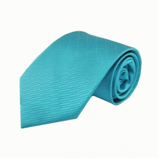 Teal Small Rectangle Tone on Tone Men's Tie 5095-0