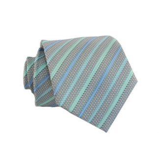 "Boy's 49"" Mint & Turquoise Stripe 7406-0"