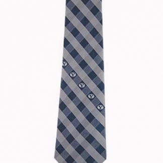 BYU Navy, Silver Checker Men's Tie 10647-0