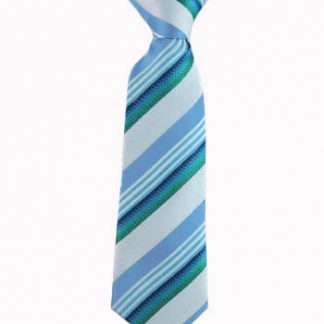"""8"""" Boy's Clip Turquoise, Teal Stripe 1103-0"""