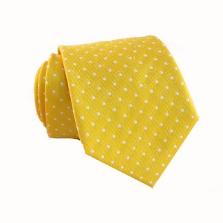"49"" Boy's Yellow with White Polka Dot Tie 8050-0"