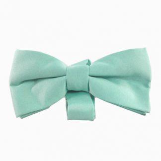 Aqua Solid Banded Bow Tie 2732-0