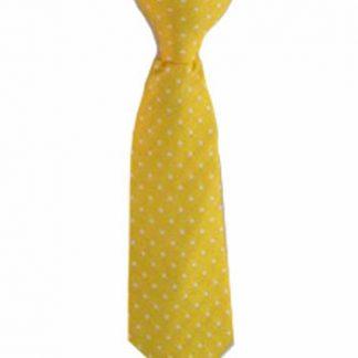 "8"" Clip-On Yellow w/White Dot Boy's Tie 10907-0"