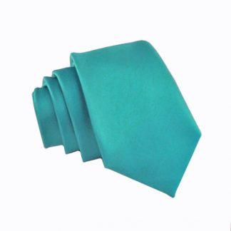 Turquoise Solid Skinny Men's Tie 10967-0