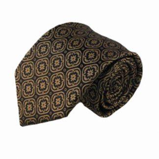 Black, Khaki Medallian Men's Tie 4010-0