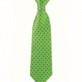 "8"" Clip-On Green w/Blue Polka Dot Boy's Tie 4319-0"