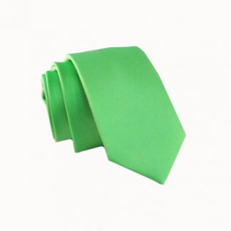 Bright Green Solid Skinny Men's Tie 5257-0