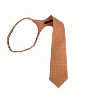 """14"""" Zipper Orange wWhite Dot Boy's Tie 10189-0"""