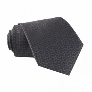 "49"" Boys Charcoal Small Diamond Self Tie 10843-0"