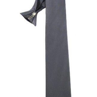 "21"" Men's Charcoal Small Diamond Clip-On Tie 1643-0"