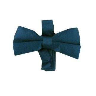 Teal Solid Band Bow Tie 4287-0