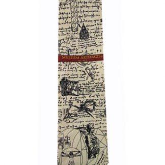 Leonardo DaVinci Sketch Silk Men's Tie 5138-0
