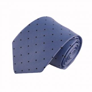 French Blue w/Black Dots Men's Tie 5455-0