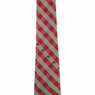 Ohio State Checker Men's Tie 8755-0